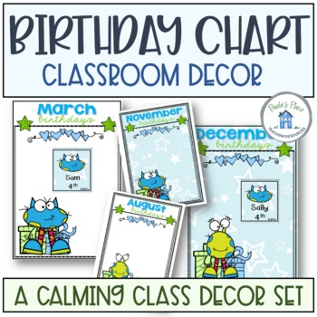 Birthday Display Charts Blue and Green Theme