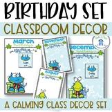 Birthday Display Charts Blue and Green Theme
