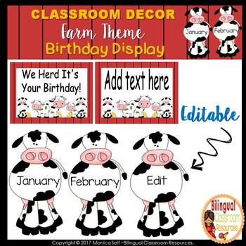 Birthday Display Clip Chart