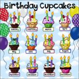 Birthday Cupcakes - Birthday Display with Balloons