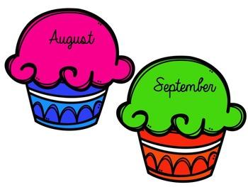 Birthday Display- Cupcakes!