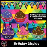 Birthday Display Cupcakes Editable