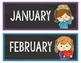 Birthday Display Editable - Bright Theme Classroom