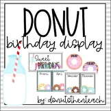 Birthday Display - Editable! (Donut Themed)