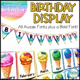 Birthday Display Editable - Rainbow Watercolor Decor