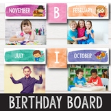 Birthday Display Editable - Watercolor Theme Classroom Birthday Chart