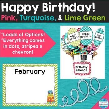 Birthday Displays & Gifts - Editable