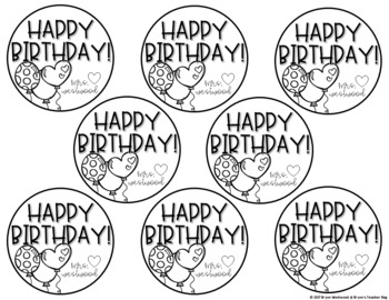 Birthday Display, Graphing, Notes, Gift Tags, & Tracking Sheet (EDITABLE)