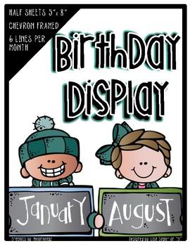 Birthday Display - Half Sheets