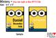 Editable Minions Inspired Birthday Chart / Birthday Display