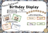 Birthday Display: Natural Background Theme