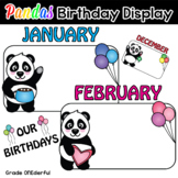 Panda Bears Birthday Display - Editable