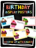 Birthday Display Posters