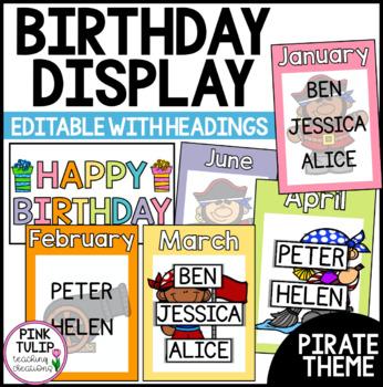 Birthday Display - Rainbow Pirate Theme