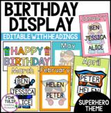Birthday Display - Rainbow Superhero Theme
