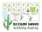 Birthday Display - Succulent - Cactus - Classroom Decor