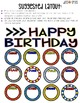 Editable Birthday Display (Superhero theme)