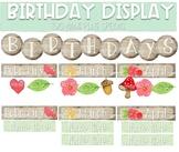 Birthday Display - Woodland Theme