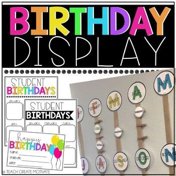 Birthday Display {editable}