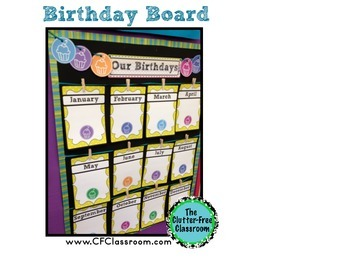 Birthday Display for the Classroom  {with Tips and Ideas for Celebrating}