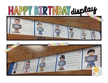Birthday Display! {freebie}