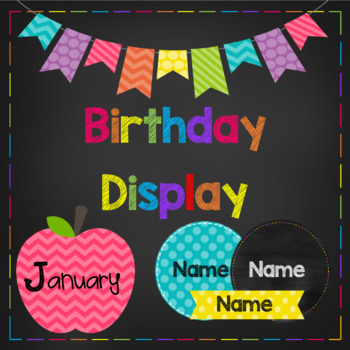 Birthday Display with Editable Name Tags (3 different options)