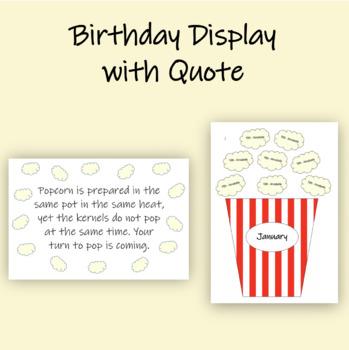 Birthday Display with Quote