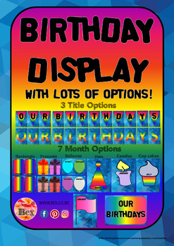Birthday Display - with lots of options