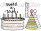 Birthday Doodles Digital Clip Art Set- Color and Black Line COMBO