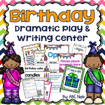 Birthday Dramatic Play and Writing Center