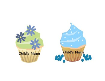 Birthday Editable Cupcakes, Flash Cards & Activities