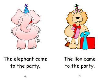 Birthday Emergent Reader - Party Animals