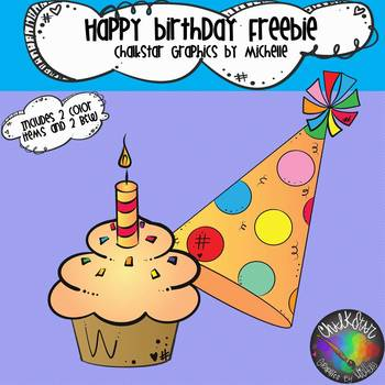 Birthday Cupcake Clipart FREEBIE