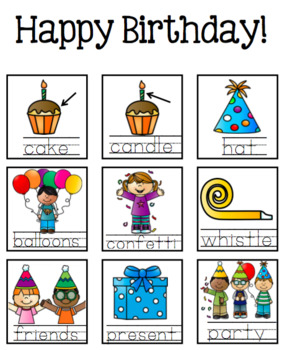 Birthday *FREEBIE* - Guided Writing Pattern Prompts for Emerging Writers
