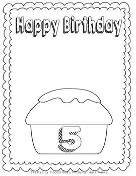 Birthday Flap Book