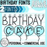 Birthday Font: Candles and Cake!