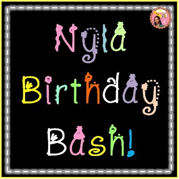 Birthday Font - Nyla Birthday Bash!