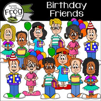 Birthday Friends Clip Art