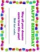 Birthday Fun Bundle - Printable certificate, homework passes, pencil toppers