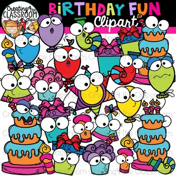 Birthday Fun Clipart {Birthday Clipart}