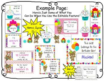 Birthday Fun For Everyone!  *EDITABLE* Super Pack Of Birthday Treasures!