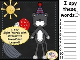 Dr. Seuss Birthday Fun- I Spy Sight Words-  Interactive PowerPoint Game