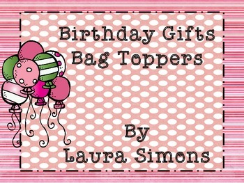 Birthday Gift Bag Toppers