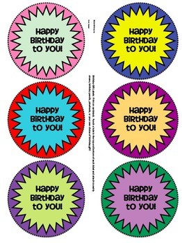 Birthday Gift Labels