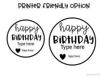 Birthday Gift Tag Freebie {editable}