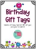 Birthday Gift Tags FREEBIE