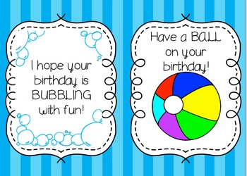 Birthday Gift Tags for Students