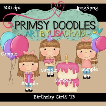 Birthday Girl 300 dpi clipart