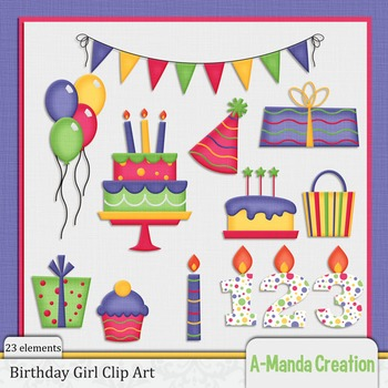 Birthday Girl Clip Art
