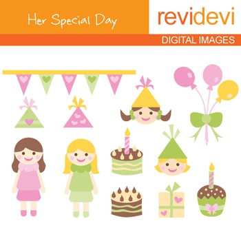 Birthday Girl Clip art - Her Special Day